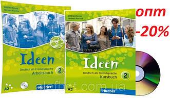 Немецкий язык / Ideen / Kursbuch+Arbeitsbuch+CD. Учебник+Тетрадь (комплект с диском), 2 / Hueber