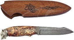 Нож R.A.Knives Волк, Дамаск