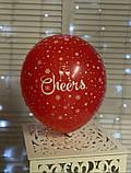 """Латексна кулька з малюнком Merry Christmas 12"""" Малазія KDI асорті """"Sharoff"""", фото 4"""