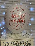 """Латексна кулька з малюнком Merry Christmas 12"""" Малазія KDI асорті """"Sharoff"""", фото 5"""