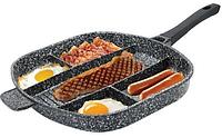 Сковорода 5в1 с делениями на несколько блюд 39х33х5 см Edenberg EB-3306
