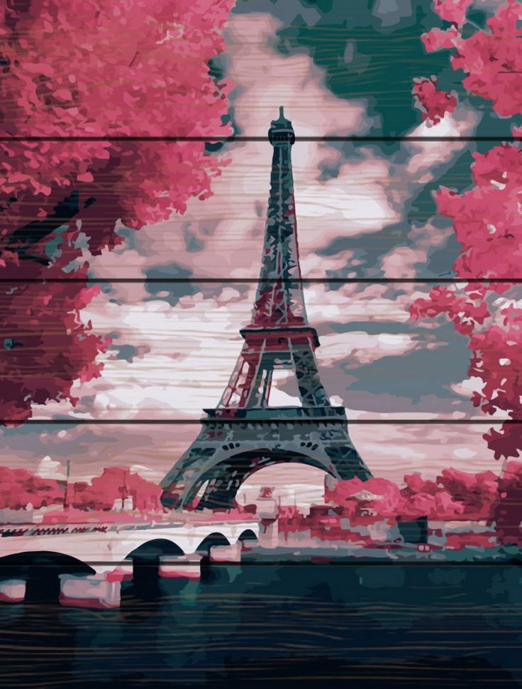 "Картина по номерам на дереве. Rainbow Art ""Лиловый Париж"" GXT24449-RA"