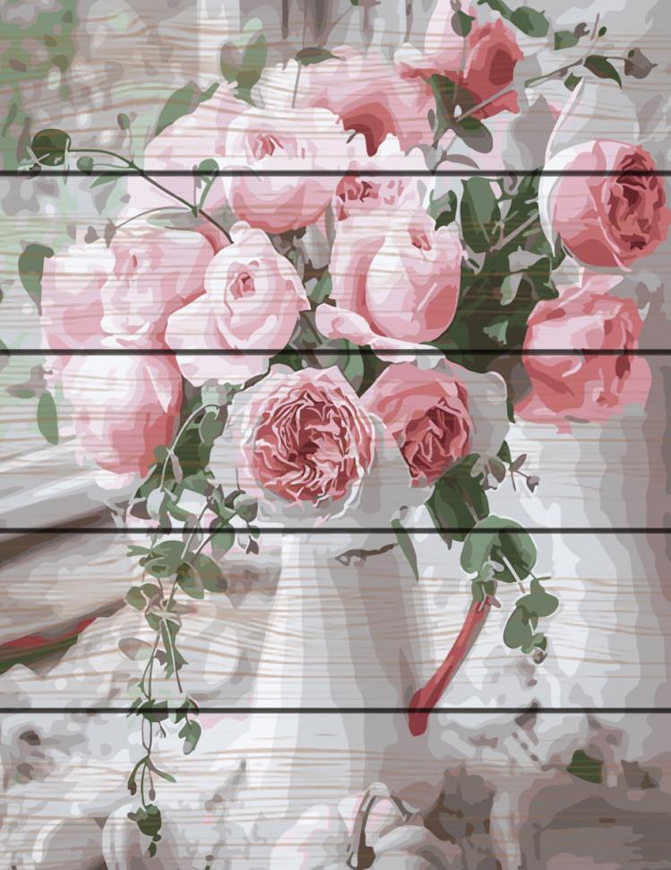 "Картина по номерам на дереве. Rainbow Art ""Нежность роз"" GXT29390-RA"
