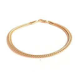 """Браслет """"Двойной колос"""" SONATA из медицинского золота, позолота РО, 52060 (19 см)"""