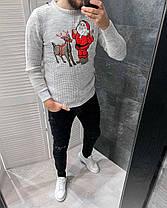 Свитер мужской новогодний серого цвета, фото 3