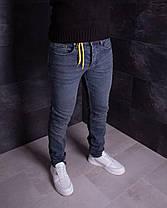 Мужские джинсы зауженные синего цвета, фото 3