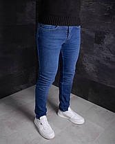 Мужские джинсы зауженные синие, фото 2
