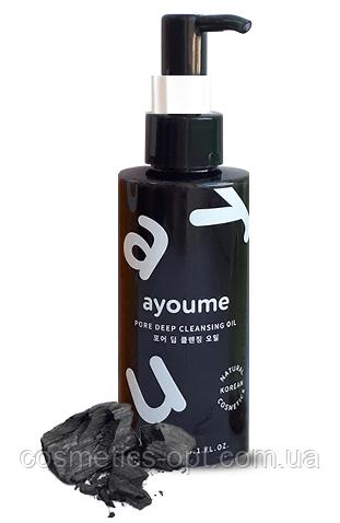 Гидрофильное масло от черных точек с древесным углем AYOUME Pore Deep Cleansing Oil, 150 ml