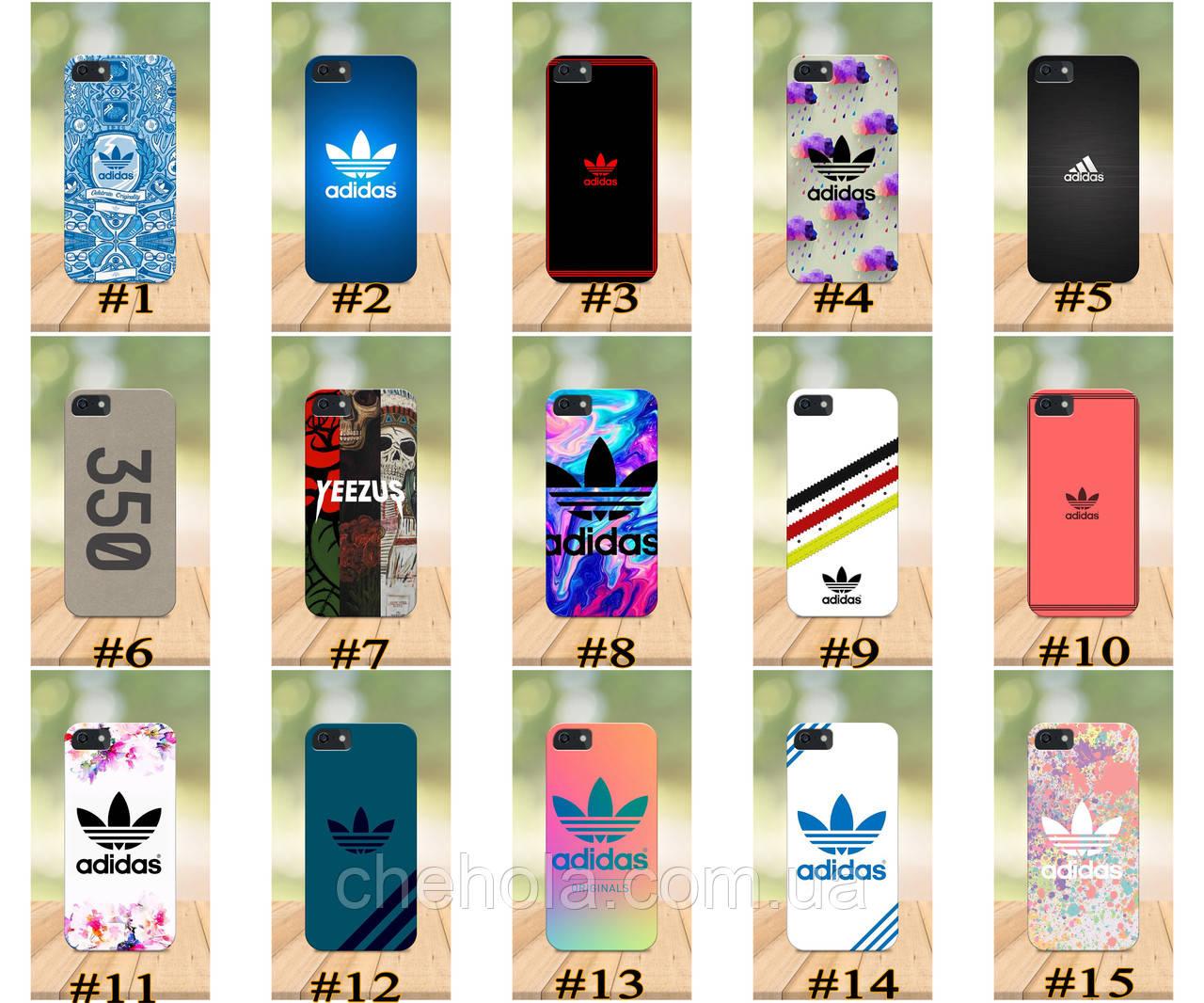 Чохол на iPhone 5 5s SE 4 4S бампер накладка з принтом в стилі Adidas Адідас