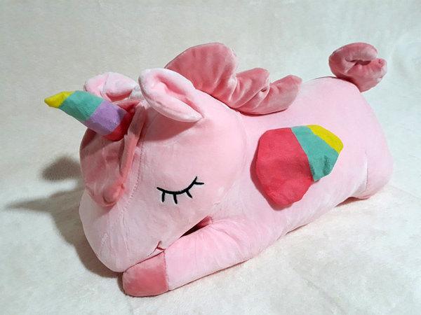Плед - мягкая игрушка 3 в 1 (Единорог розовый)