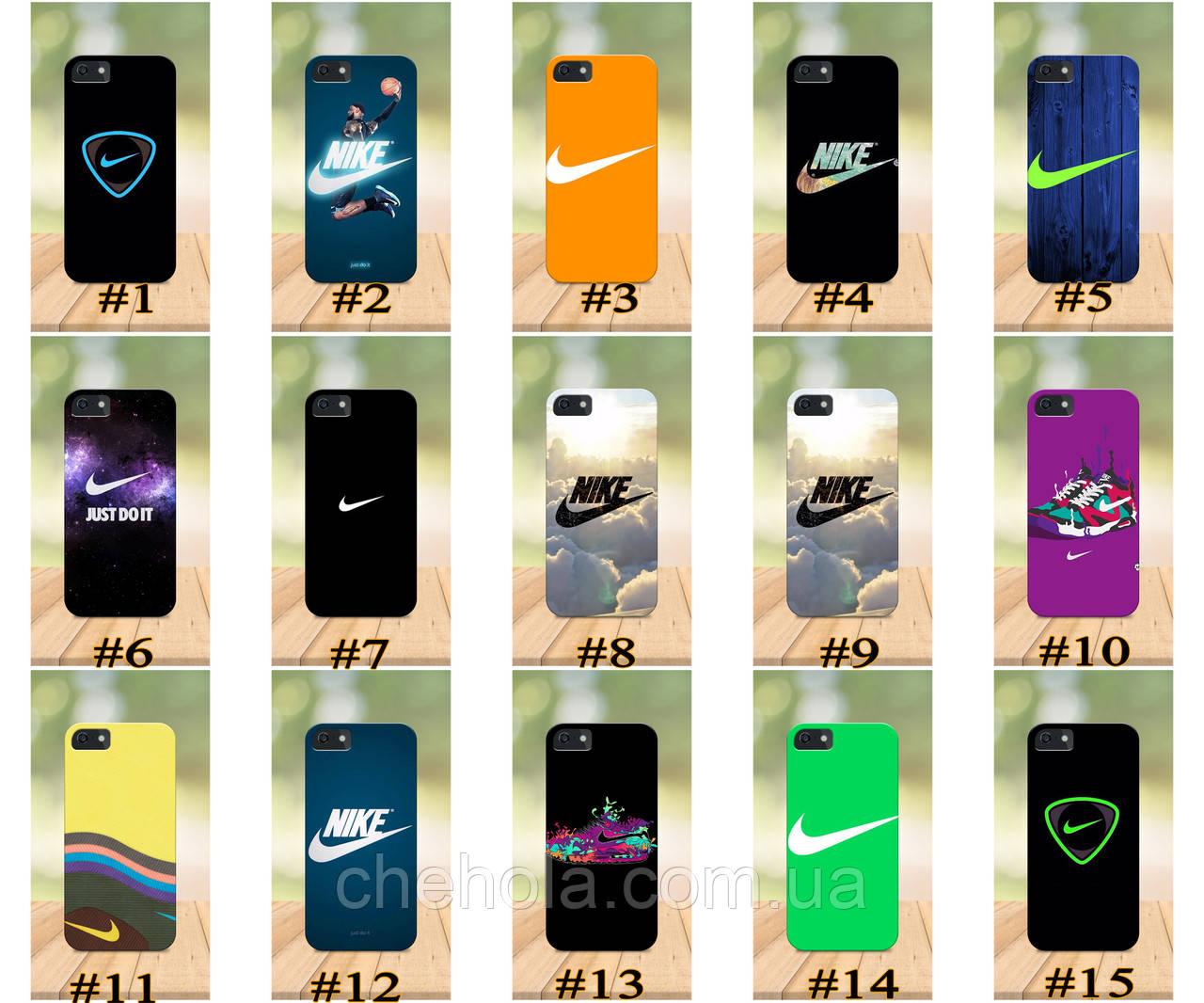 Чехол на iPhone 5 5s SE 4 4S бампер накладка с принтом в стиле Nike Найк