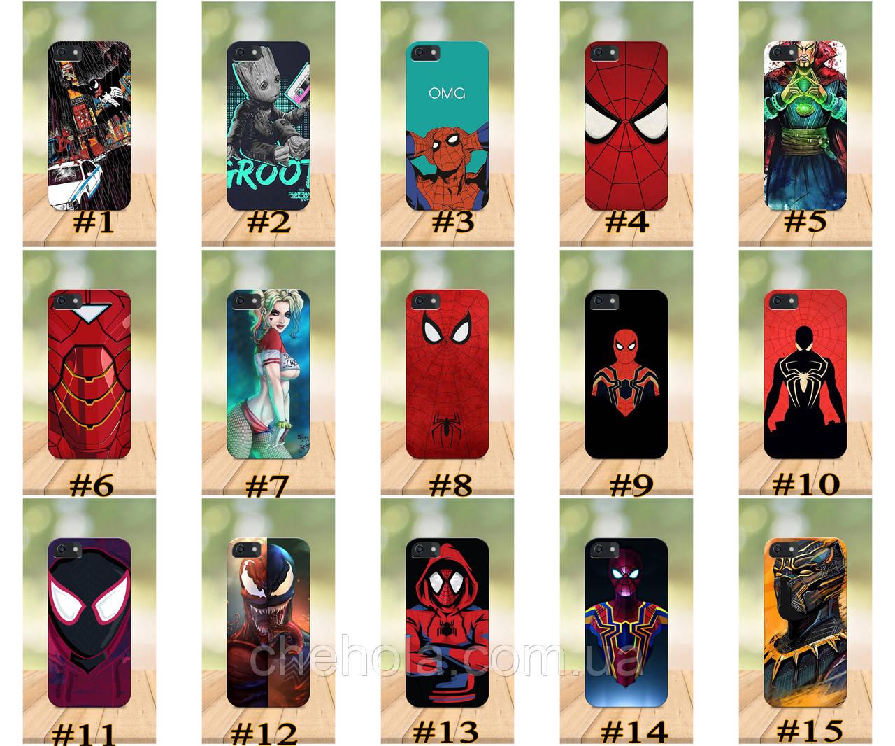Чохол на iPhone 5 5s SE 4 4S бампер накладка з принтом бампер накладка з принтом Marvel DC Комікси