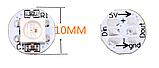 Модуль круглый со светодиодом RGB WS2812B Белый, фото 3