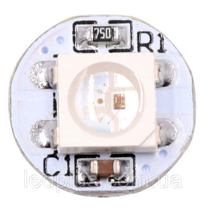 Модуль круглый со светодиодом RGB WS2812B Белый