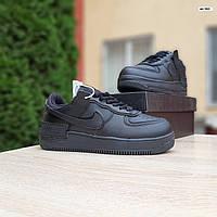 Жіночі зимові кросівки стилі Nike Air Force 1 Mid, фото 1