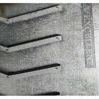 Шевронна (модульна) транспортерна стрічка з рифл і гофробортамі