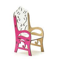 Стул деревянный, с подлокотником (бело-розовый) Б46р [meb56405-TSI]