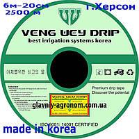 Крапельна стрічка п-во Корея Veng Wey Drip п-во Корея 8mil через 20 см, 2500 м, фото 1