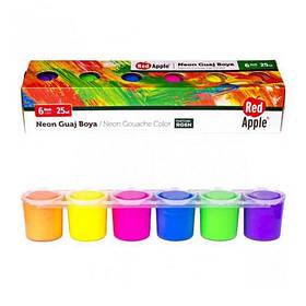 """Краски """"Гуашь. Неон"""", 6 цветов RG6N [tdd014-LVR]"""