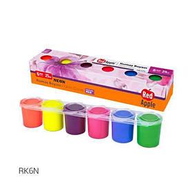 Набор красок для рисования по ткани, 6 цветов RK6N [kra143918-TSI]