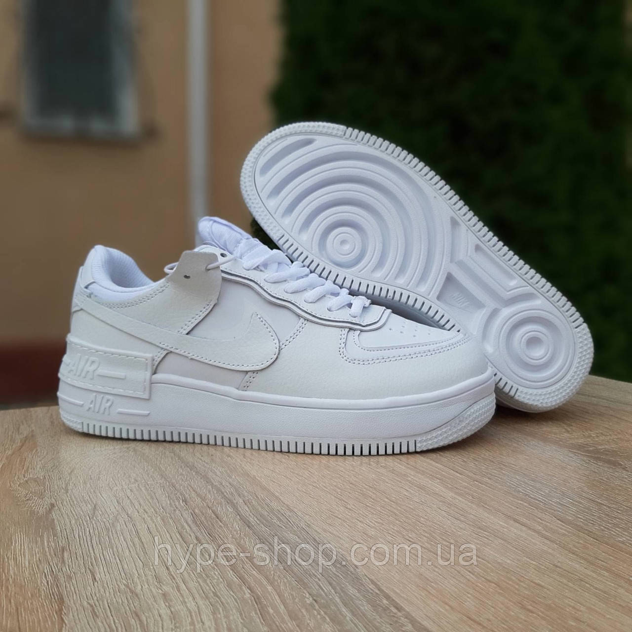 Женские зимние кроссовки стиле Nike Air Force 1 Shadow низкие