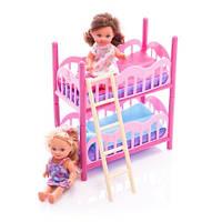 Игровой набор с 2 куклами-сестричками Еви с двухъярусной кроватью и аксессуарами - Evi Love 2 Floor Bed Simba