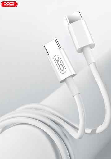 Кабель Usb-cable Type-C -Type-C XO NB124 2A 1m (круглый) White