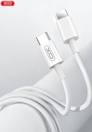Кабель Usb-cable Type-C -Type-C XO NB124 2A 1m (круглый) White, фото 2