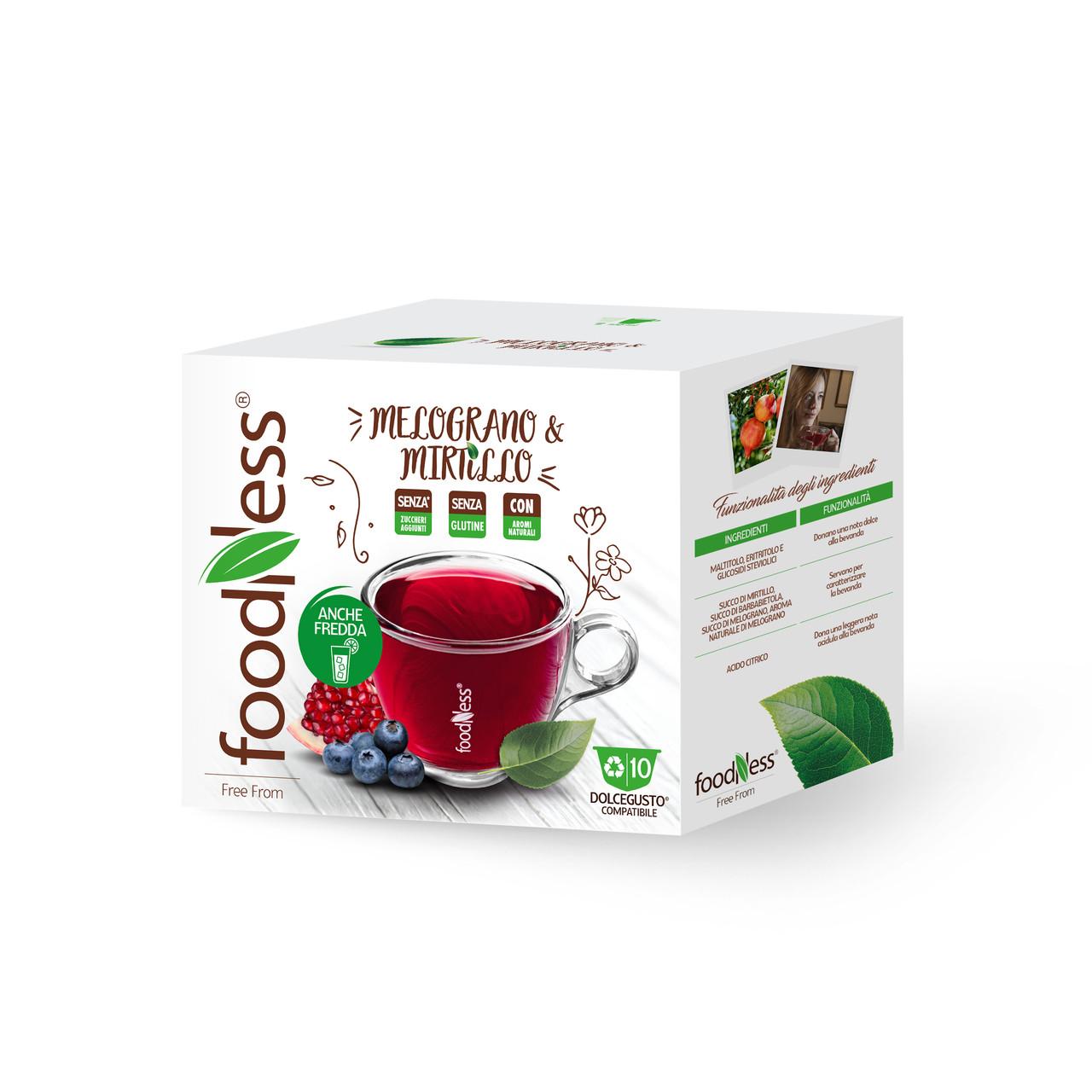 Чай в капсулах FoodNess Dolce Gusto Pomegranate & Blueberry 10 шт. (Фуднес Дольче Густо), Италия
