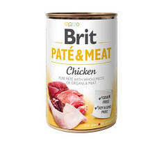 Консервы для собак Brit Pate & Meat Chicken (с курицей) 400 г