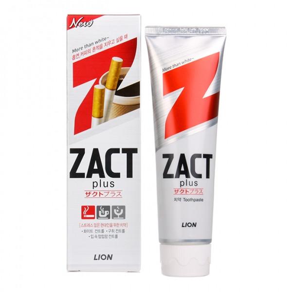 Отбеливающая зубная паста от табачного налета CJ Lion Zact Plus 150г