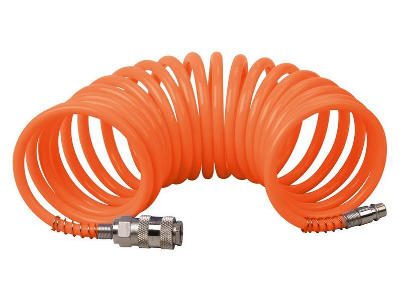 Шланг пневматический спиральный 5.5*8мм*10м Mastertool 81-8495