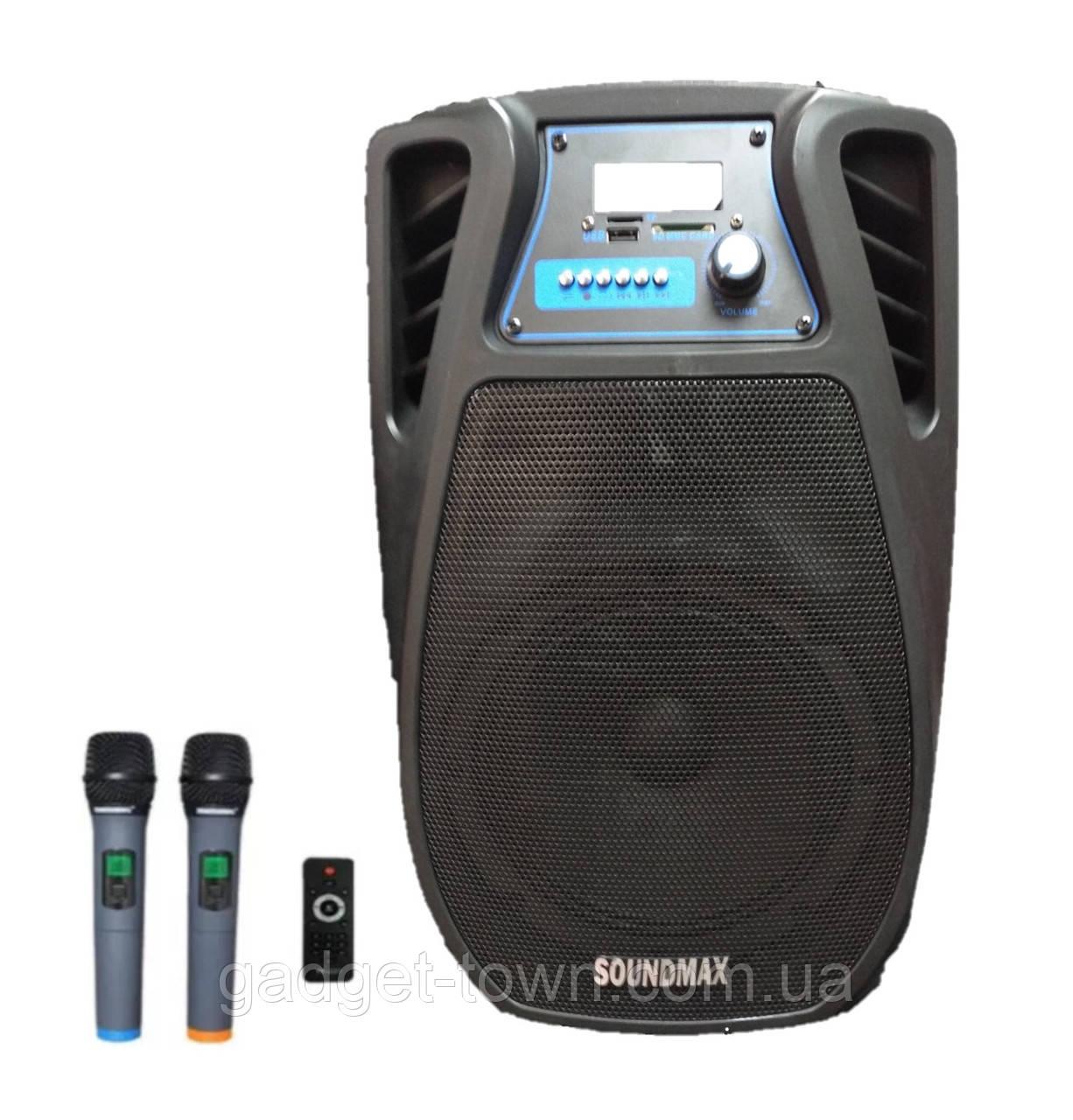 Колонка аккумуляторная с радиомикрофонами TMG ORIGINAL Soundmax SM-08 (Bluetooth/USB/SD)