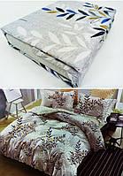 """Двуспальные постельные комплекты Фланель  """"Ветка листвы"""", фото 1"""