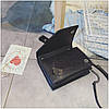 Мини сумка клатч женская, Мини сумка на плечо, Сумка из кожзама Черная  AL-3719-10, фото 4