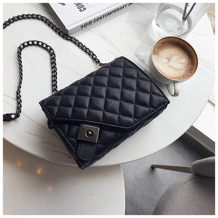 Мини сумка клатч женская, Мини сумка на плечо, Сумка из кожзама Черная  AL-3719-10