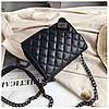 Мини сумка клатч женская, Мини сумка на плечо, Сумка из кожзама Черная  AL-3719-10, фото 3