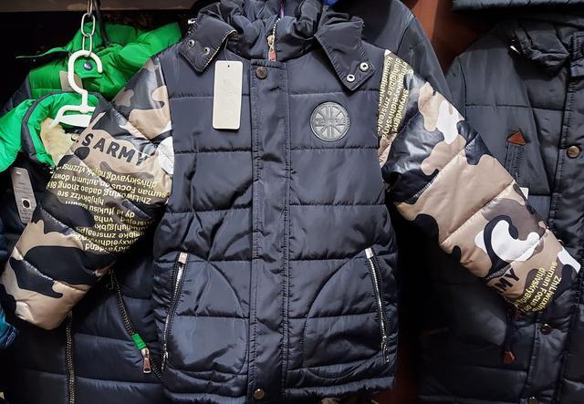 фотография детская зимняя куртка с капюшоном
