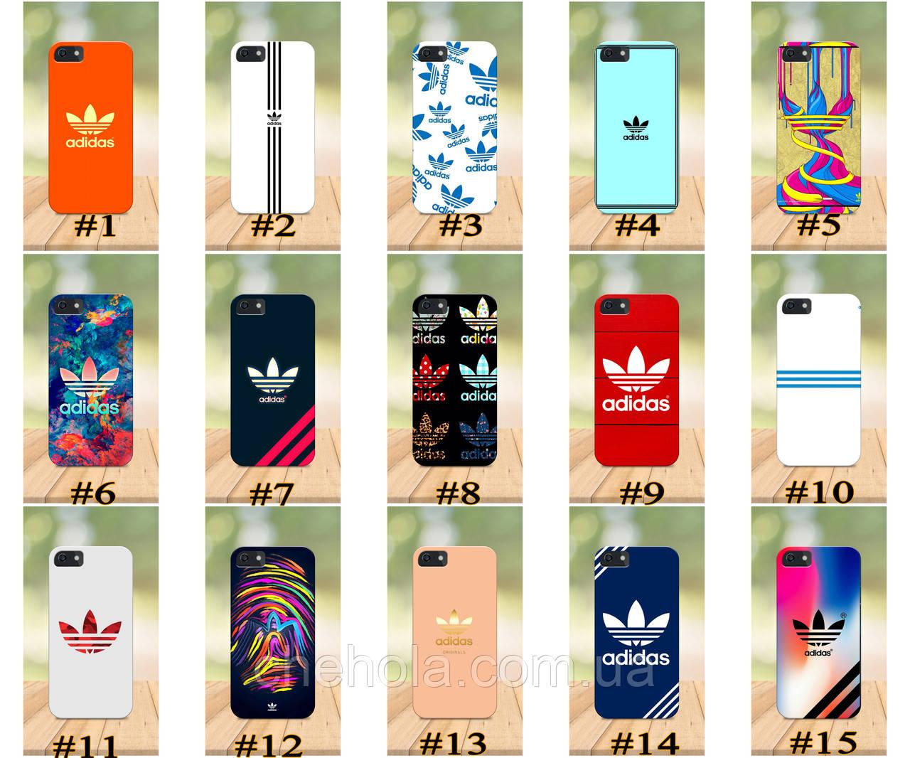 Чехол на iPhone 5 5s SE 4 4S бампер накладка с принтом в стиле Adidas Адидас