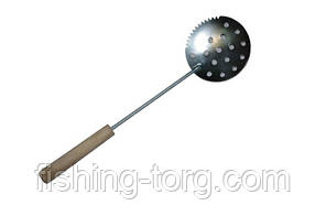 Черпак  металлический с деревянной ручкой
