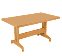Стол PAPATYA Престиж 80x140 Тик, КОД: 1898834