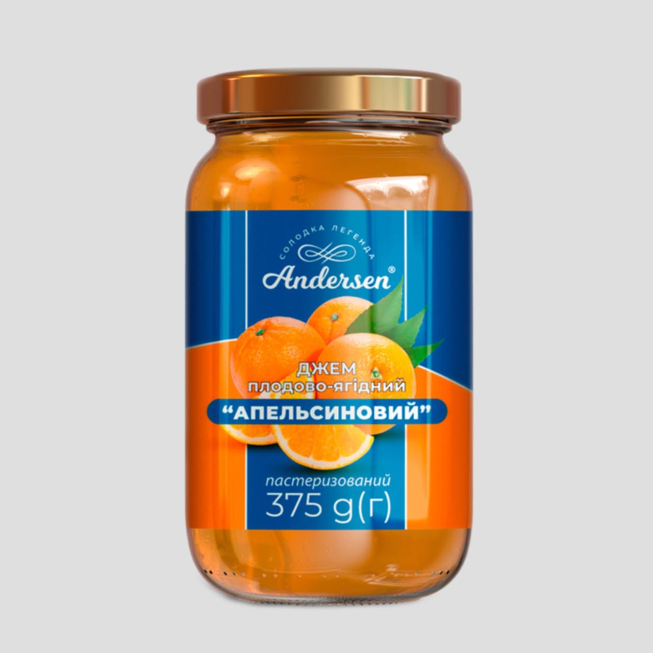 """Джем плодово-ягодный """"Апельсиновый"""" ТМ """"Andersen"""" 375 г"""
