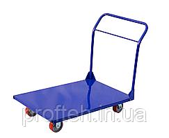 Платформенная складская тележка Скиф Professional 1250/800/125мм/600кг