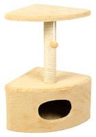 Когтеточка, дряпка   Д11У угловая с будкой  65 см (бежевая)