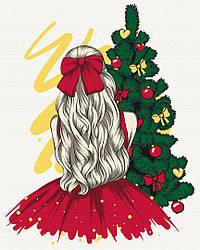 Картина по номерам Девушка и Новый год 40х50 см, BrushMe (BS51354)