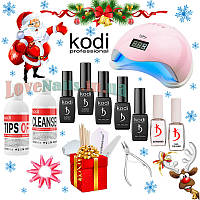Стартовый набор для гель лака Kodi с лампой и маникюрными инструментами