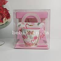 Подарочная чашка из керамики с изображением Фламинго