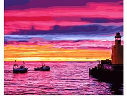 Картина по номерам Рассвет на море 40х50 см, BrushMe (GX21542)