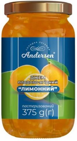"""Джем плодово-ягодный """"Лимонный"""" ТМ """"Andersen"""" 375 г."""