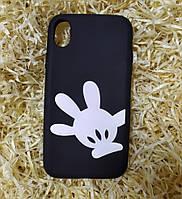 Силиконовый чехол Ладошка для iPhone XR, Black
